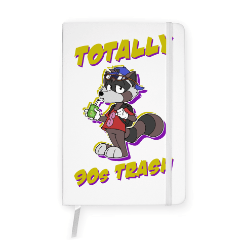 Totally 90's Trash Raccoon Notebook