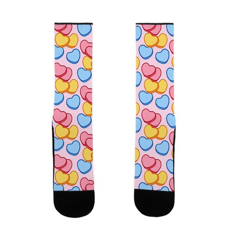 Candy Hearts Socks Pink Sock