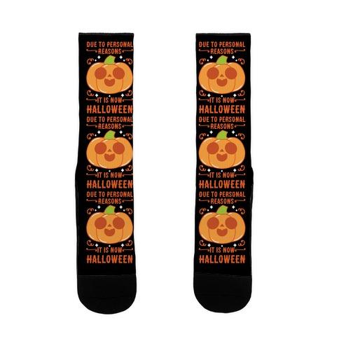 Due To Personal Reasons It Is Now Halloween Pumpkin (Orange) Sock