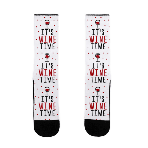 It's Wine Time Sock