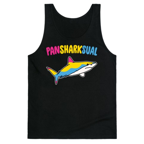 Pansexual White Print Tank Top