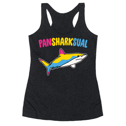 Pansexual White Print Racerback Tank Top