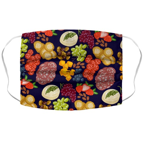 Charcuterie Board Pattern Accordion Face Mask