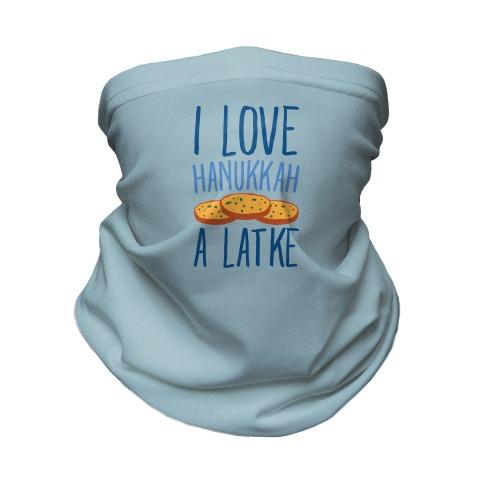 I Love Hanukkah A Latke Parody Neck Gaiter