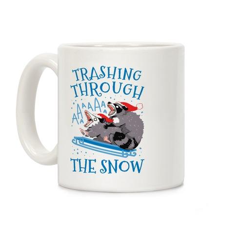 Trashing Through The Snow Coffee Mug