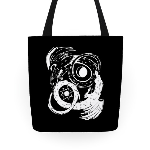 Dark-Light Ouroboros Tote