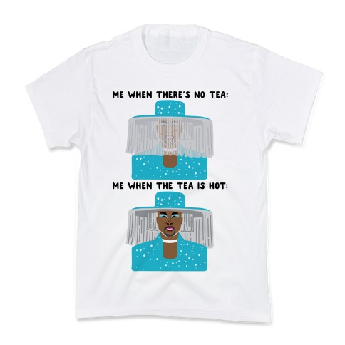 Me When There's No Tea Vs Me When The Tea Is Hot Parody Kids T-Shirt