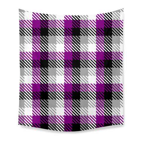 Ace Pride Flag Plaid Tapestry
