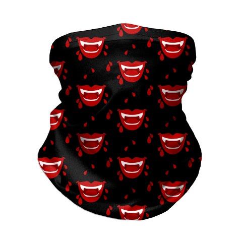 Red Vampire Lips Pattern Neck Gaiter