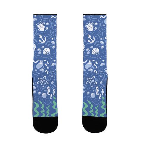 Sea pattern Socks Sock