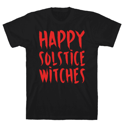 Happy Solstice Witches Parody White Print Mens T-Shirt