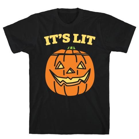 It's Lit Jack O' Lantern White Print T-Shirt