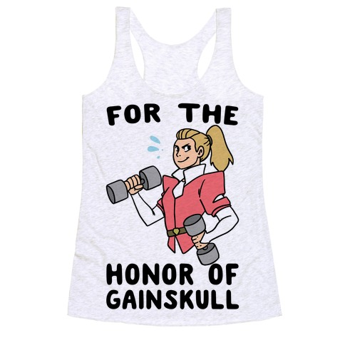 For the Honor of Gainskull Racerback Tank Top