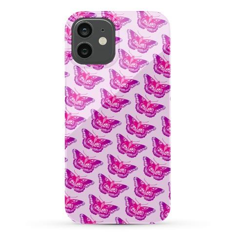 Purple Butterfly Pattern Phone Case