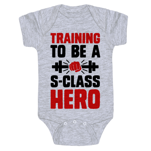 Training to be a S-Class Hero Baby Onesy