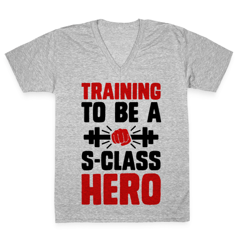 Training to be a S-Class Hero V-Neck Tee Shirt