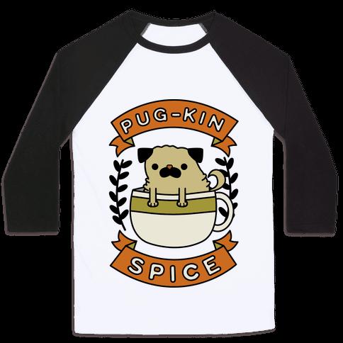 Pugkin Spice Baseball Tee