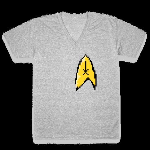 Star Trek 8-bit (Pocket) V-Neck Tee Shirt