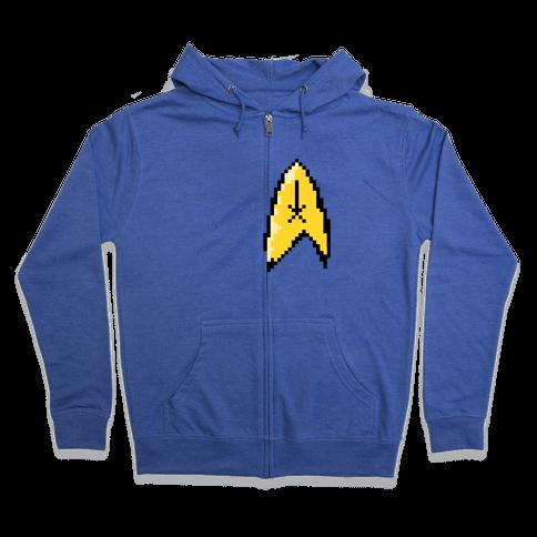 Star Trek 8-bit (Pocket) Zip Hoodie