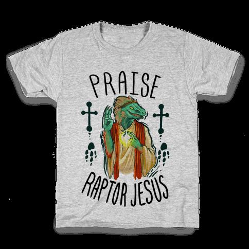 Praise Raptor Jesus Kids T-Shirt