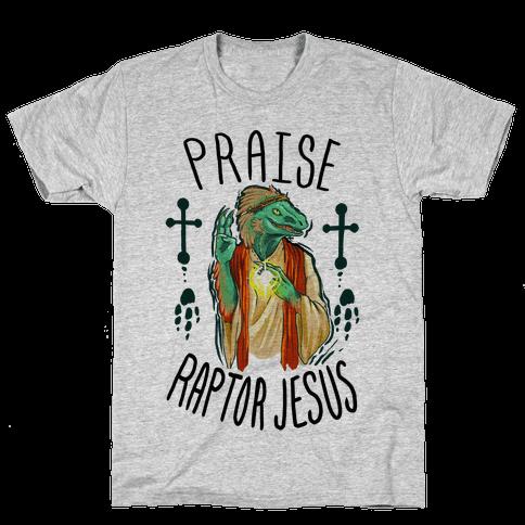 Praise Raptor Jesus Mens T-Shirt