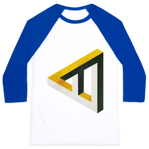 Triangle Optical Illusion Baseball Tee