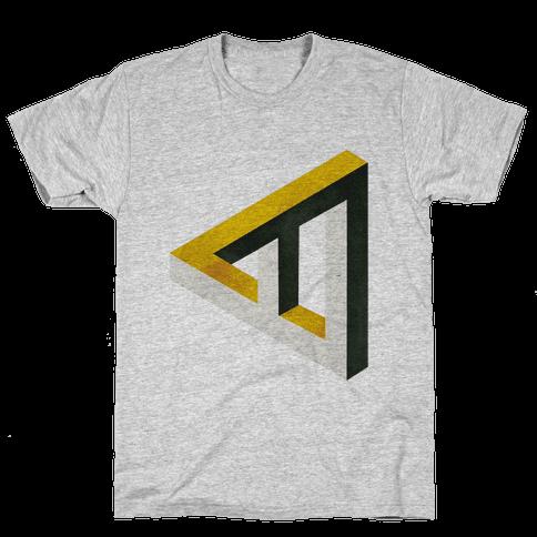 Triangle Optical Illusion Mens T-Shirt