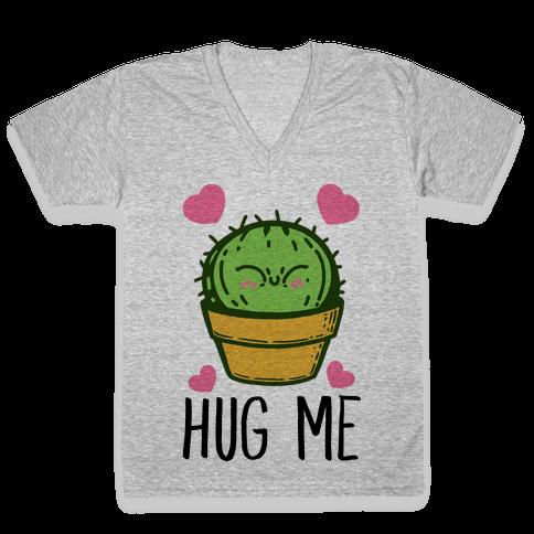 Hug Me - Cactus V-Neck Tee Shirt
