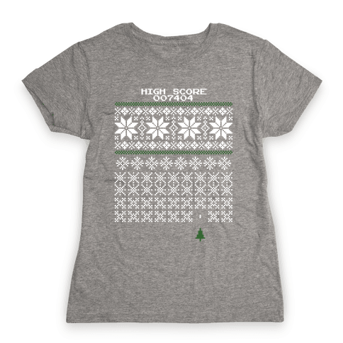 Christmas Invaders Womens T-Shirt