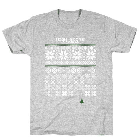 Christmas Invaders Mens T-Shirt
