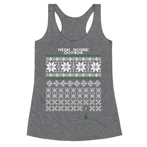 Christmas Invaders Racerback Tank Top