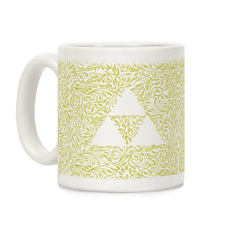 Subtle Triforce Pattern Coffee Mug