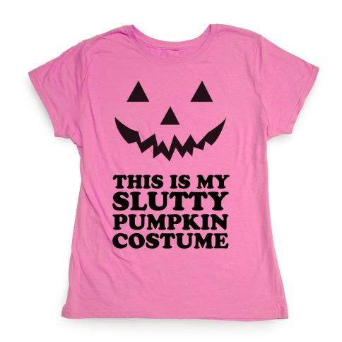 ed923dac Slutty Pumpkin Costume T-Shirt | LookHUMAN