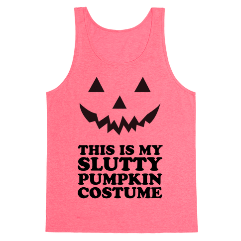Slutty Pumpkin Costume Tank Top