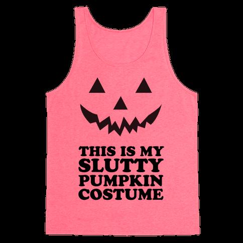 Slutty Pumpkin Costume Tank Top