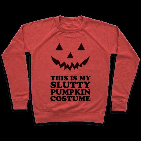 Slutty Pumpkin Costume Pullover