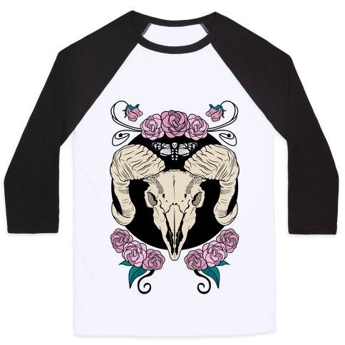 Skull of Ram Baseball Tee
