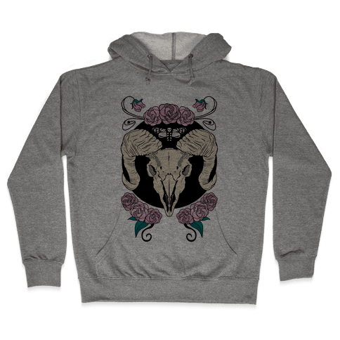 Skull of Ram Hooded Sweatshirt