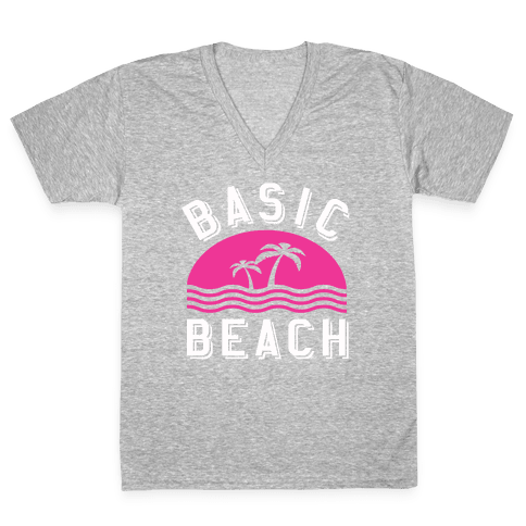 Basic Beach V-Neck Tee Shirt
