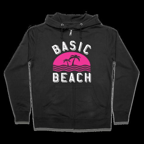 Basic Beach Zip Hoodie