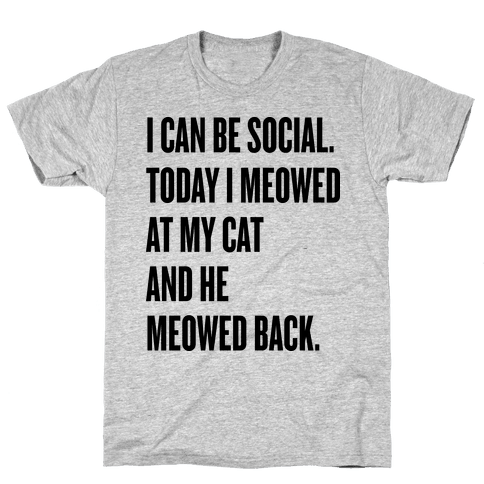 Cat Socialite Mens T-Shirt