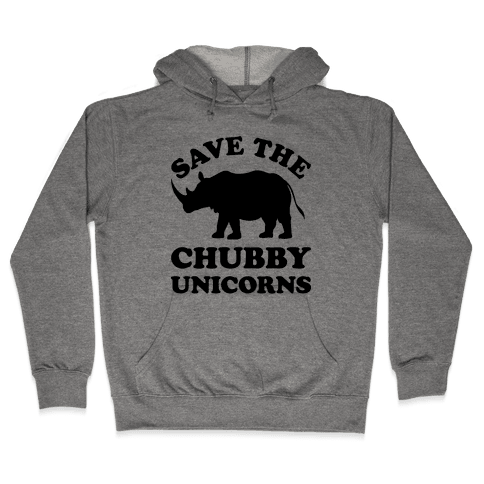 Save The Chubby Unicorns Hooded Sweatshirt