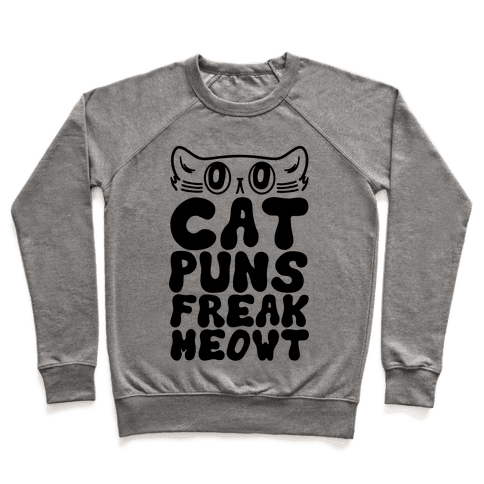 Cat Puns Freak Meowt Crewneck Sweatshirt Lookhuman