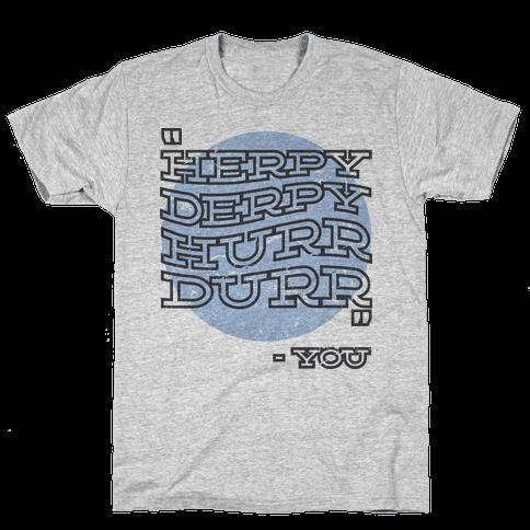 Herpy Derpy Mens T-Shirt