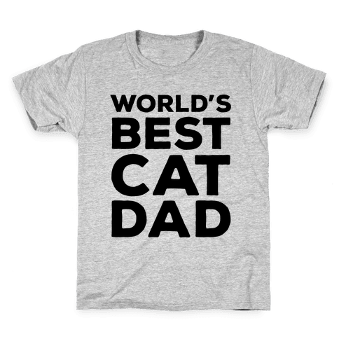 World's Best Cat Dad Kids T-Shirt