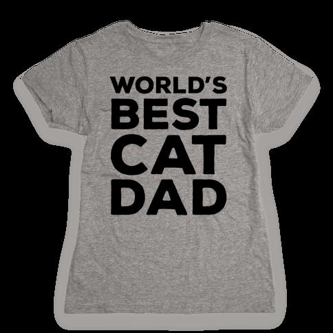 World's Best Cat Dad Womens T-Shirt