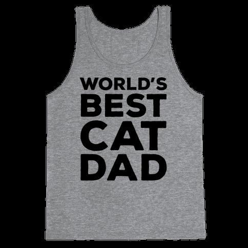 World's Best Cat Dad Tank Top