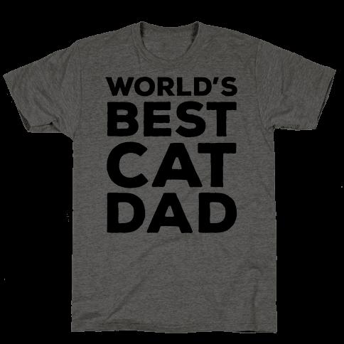 World's Best Cat Dad Mens T-Shirt