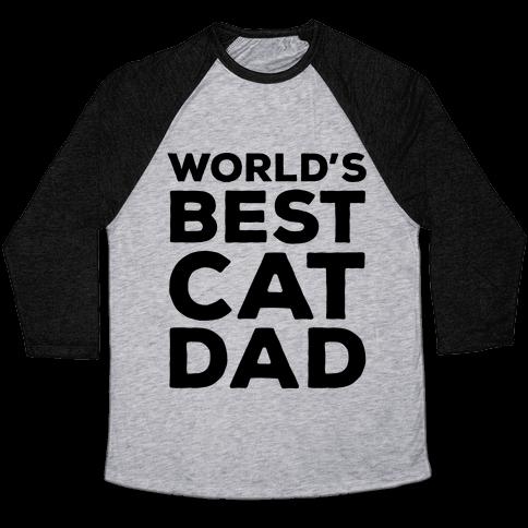 World's Best Cat Dad Baseball Tee