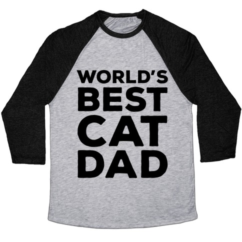 World's Best Cat Dad Baseball Tee